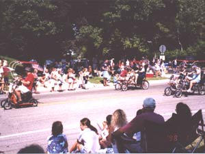 Burnsville, Minnesota Parade September 2002 Quadriscooter and Quadribents.