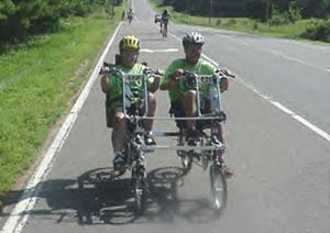 MS Tram Lynn and Bob go 300 miles in 5 days on EZ-1 Lite Quadribent