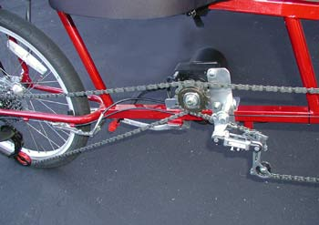 E-4 Mid-Drive Electric Motor for EZ-1 Recumbent bicycles