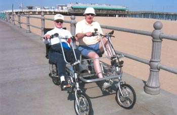 Boardwalk Bikes Virginia Beach Biking with their Quadribent